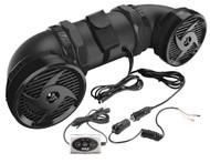 "New PLATV550BT Dual 500W 6.5"" ATV/Marine Amplifed Waterproof Speakers+ Bluetooth"