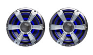 "New Fusion SG-FL77SPC 7.7"" Inch 280 Watt LED Coaxial Marine Audio Speakers System 1 Pair"