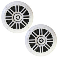 "New Millenium MILSPK652W 6.5"" 150 Inch Watts Marine Boat Yach Car ATV Audio Speakers System - SPK652W 1 Pair White Speakers"