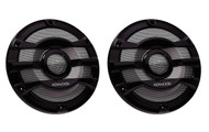 "Kenwood KFC-2053MRB 8"" 2 Way Marine Speaker System Pair Black 300W MAx Power KFC2053MRB"