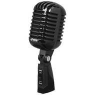 Classic Retro Vintage Style Dynamic Vocal Microphone with 16ft XLR Cable (Black)