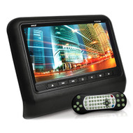 Headrest Vehicle 9'' Video Display Monitor, CD/Multimedia Disc Player, USB/SD Readers, HDMI Port (Black)