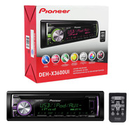 Pioneer DEH-X3600UI Car CD Player Receiver w/ USB, iPhone/Android, Pandora
