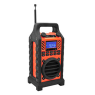 New PWPBT250OR Rugged & Portable Bluetooth Speaker with FM-Radio USB/SD AUX-IN
