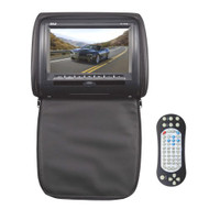 Pyle PL73DBK 7-Inch Wide Screen Hi-Res Headrest Video Display Monitor with Built-in DVD Player, USB /SD Readers, Remote Control (Black)