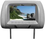 """Tview 7"""" Tft/Lcd Car Headrest With Monitorpair Gray"""