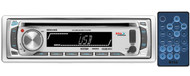 Boss Audio Systems MR648S MP3 Compatible CD Receiver, AM/FM, Full Detachable Front Panel, Front AUX Input, USB/SD Card Slot, Wireless Remote (Silver)