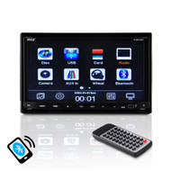7'' Double DIN TFT Motorized Slide-Down Panel Touch Screen Multimedia Disc/CD/MP3/MP4/CD-R/USB/SD-MMC Card Slot/AM/FM/Bluetooth