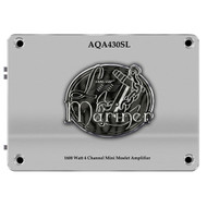 AQA430SL Lanzar 1600 Watts 4 Channel Mini Mosfet Marine Amplifier (Silver)