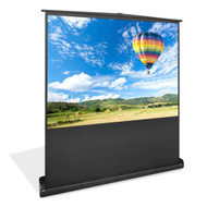 New PRJSF1009 100-Inch Standing Portable Easy Roll-Up Pull-Out Projection Screen