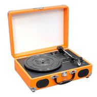 New PVTT2UOR Rechargeable Retro Belt-Drive Turntable W/Speakers & USB-to-PC Line