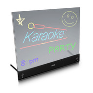 Pyle PLWB2030 Erasable Desktop Illuminated LED Writing Board w/ Remote Control and 8 Fluorescent Markers