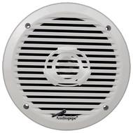 """Audiopipe 6.5"""" 2-Way Marine Speaker 200W Max White"""