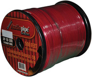 Audipipe 18 Ga 500' Ft Remote Wire Red Color
