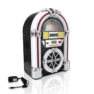 New Pyle PJUB25BT Bluetooth Jukebox MP3 Speaker Player LED Lighting, AM/FM Radio, USB/SD Readers with Aux Input