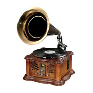 New Pyle PUNP33BT Vintage Retro Classic Style Bluetooth Turntable Phonograph Speaker Sound System