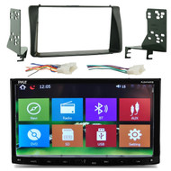 Pyle PLDNV695B 7'' Double DIN In-Dash Touch Screen TFT/LCD Monitor, Bluetooth, GPS Navigation Receiver, Metra 70-1761 Radio Wiring Harness For Toyota 87-Up, Metra 95-8204 Double DIN Installation Kit for 2003-up Toyota Corolla Vehicles