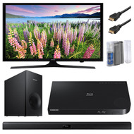 Samsung UN40J5200 40-Inch 1080p Smart LED TV Bundle With BDJ6300 3D Wi-Fi Blu-Ray Player + 2.1 Channel 120W Wireless Soundbar Speaker + LCD Screen /Keyboard Cleaning Kit + 2x 6Ft HDMI Cables