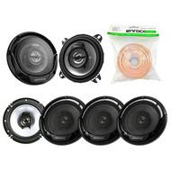 "3 Pairs Car Speaker Package Of 2x Kenwood KFC-1065S 4"" Inch 210-Watt 2-Way Sport Series Flush Mount Coaxial Speakers + 4x KFC-1665S 6 1/2"" 2-Way Black Car Speakers + Enrock 18g 50 Feet Speaker Wire"