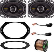"97-06 Jeep Wrangler Speaker System Bundle With 2 Kicker 40CS464 4x6"" 150 Watt Car Audio Speaker + Metra 82-1011 Speaker Adapter Plate + 72-6512 2-Pin Speaker Connector + Enrock 50ft 16g Speaker Wire"