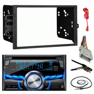 "Clarion CX505 Double Din Bluetooth CD MP3 Car Stereo Receiver Bundle Combo With Metra installation kit for car stereo (Fits Most GM Vehicles) + Wire Harness + Enrock 22"" Radio Antenna With Adapter"