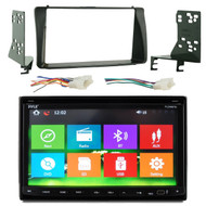 Pyle PLDNB78I 7'' Double DIN In-Dash Motorized Fold-Down Touch Screen Bluetooth Built-In GPS Stereo Receiver, Metra 70-1761 Radio Wiring Harness For Toyota 87-Up, Metra 95-8204 Double DIN Installation Kit for 2003-up Toyota Corolla Vehicles