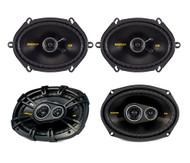 """2) Kicker 40CS684 6x8"""" 450W 2 Way + 2) 40CS6934 6x9"""" 450W 3 Way Coaxial Speakers"""