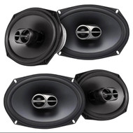 "2 Pair Of Alpine SPS-619 6x9"" Inch 3-Way Type-S 520 Watts 4-Ohms Coaxial Car SpeakerS"