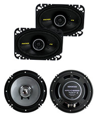 "2) Kicker 40CS464 4x6"" 150W 2 Way Car Coaxial + Kenwood KFC-C1655S 6.5"" Speakers"