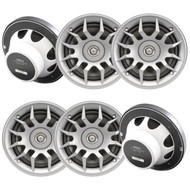 """3 Pairs Of Magnadyne WR6LS 6 1/2"""" 6.5 Inch 2-Way Waterproof AquaVibe Boat Marine Hot Tub Shower Outdoor Speaker with Silver Grill"""