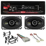 87-95 JEEP WRANGLER JVC Stereo/Radio/CD Player+Kicker Speakers+Full Install Kit