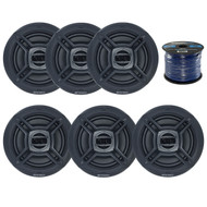 """Package Bundle Includes = Enrock EKMR1672B 6.5"""" Inch Dual-Cone Stereo Speakers, EnrockMarine 16 Gauge 50 Feet Tin Plated OFC Speaker Wire Cable corrosion resistant jacket"""