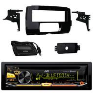 JVC KD-RD97BT Bluetooth iHeart Radio Pandora Front USB AUX CD/MP3/WMA Player Receiver, Metra 99-9700 Harley Davidson Dash Kit
