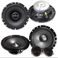 "Package: Pair Of Alpine SPS-610C 6.5"" 2 Way Pair of Component Car Speakers + Pair Of Alpine SPS610 6.5"" 2 Way Coaxial Car Speakers"