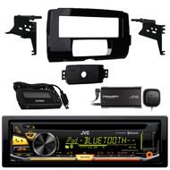 JVC KD-RD97BT Bluetooth iHeart Radio Pandora Front USB AUX CD/MP3/WMA Player Receiver, SiriusXM SXV300v1 Satellite Radio Connect Vehicle Tuner Kit for Satellite Radio, Metra 99-9700 Harley Davidson Dash Kit