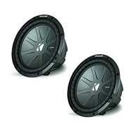 "2 Pairs Of New Kicker 40CWR104 10"" CompR 800W Dual 4 Ohm DVC Car Subwoofer Audio Stereo Sub"