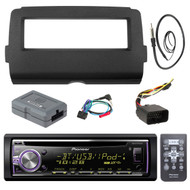 """Audio Bundle For 2014 and Up Harley - Pioneer DEH-X6900BT Marine Bluetooth Radio USB AUX CD Receiver Bundle Combo With Dash Install Kit and Handle Bar Controller for Motorcycle, Enrock 22"""" Antenna"""