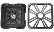"""Package: Kicker 11S12L7-4 12"""" 1500 Watt Solo Baric L7 Subwoofer w/ Non Resonant Aluminum Basket + Kicker 11L712GLCR 12"""" Chrome Grille With LED Lighting For SoloBaric 11S12L7 Subwoofer"""
