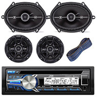 "JVC KD-R85MBS Car Marine Motorcycle Sports Stereo Bundle Kit With 2 Kicker DSC693 6x9"" Coaxial 3-Way Car Speaker + Kicker DSC654 6.5"" Coaxial 2-Way Speaker + Kicker KW1620 20-Feet 16-AWG Speaker Wire"