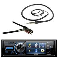 "JVC KD-AV41BT 3"" LCD Display Bluetooth Car CD DVD USB Stereo Multimedia Receiver Bundle Combo With Enrock 22"" AM/FM Radio Antenna + Metra 40-GM10 Antenna Adapter For 1988-2006 GM Vehicles"