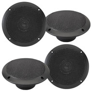 "2 Pairs Of Magnadyne WR45B 5"" Inch Waterproof Marine, Boat, Hot Tub, Outdoor Speaker with Integrated Plastic Grill - Black"