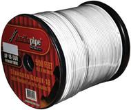 Remote Wire Audiopipe 18Ga 500' White