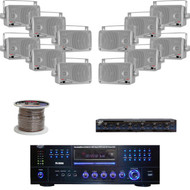 """PD3000A Pyle USB Mp3 DVD Receiver, 3.5""""Box 200W Speakers, Wire, Speaker Selector"""