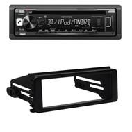 Harley 98-2013 FLHX FLHT DIN Kit, Kenwood Car Bluetooth USB AUX CD Car Receiver