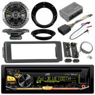 """Bluetooth CD USB Radio Harley Install Adapter 98-2013 Set Kicker 6.5""""Speaker Set"""