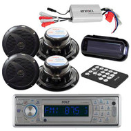 New Marine Boat CD SD USB Player +Wireless Bluetooth 800W Amp /Cover +4 Speakers
