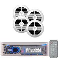Brand New Dual Marine Waterproof AM/FM Radio CD MP3 USB Receiver 4 Dual Speakers