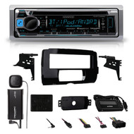2014-15 Harley Radio install Adapter CD Dash Kit +SiriusXM Antenna Thumb Control