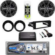 """Harley Dash FLHT FLHX Kit, Amp, Kicker Speaker 6.5"""" Set, Bluetooth CD AUX Stereo"""