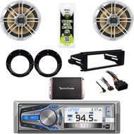 Harley FLHX Install DIN Kit, Bluetooth CD Stereo, Speakers, Adapters, 300W Amp
